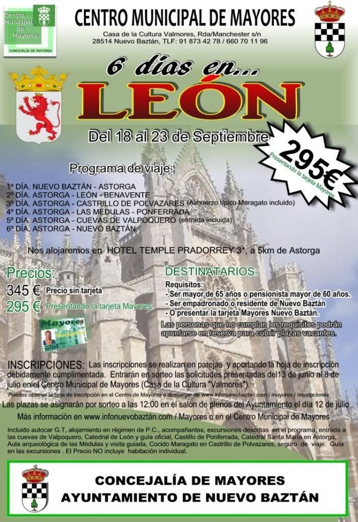 Nuevo Baztán: Viaje a León con el Centro de Mayores Cartel_viaje_leon2011