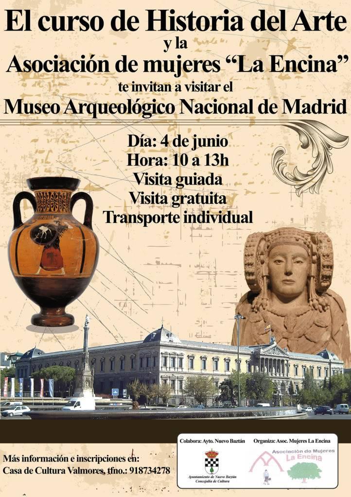 Nuevo Baztán: Visita Museo Arqueológico Nacional de Madrid Cartel_visita_museo_arqueologico