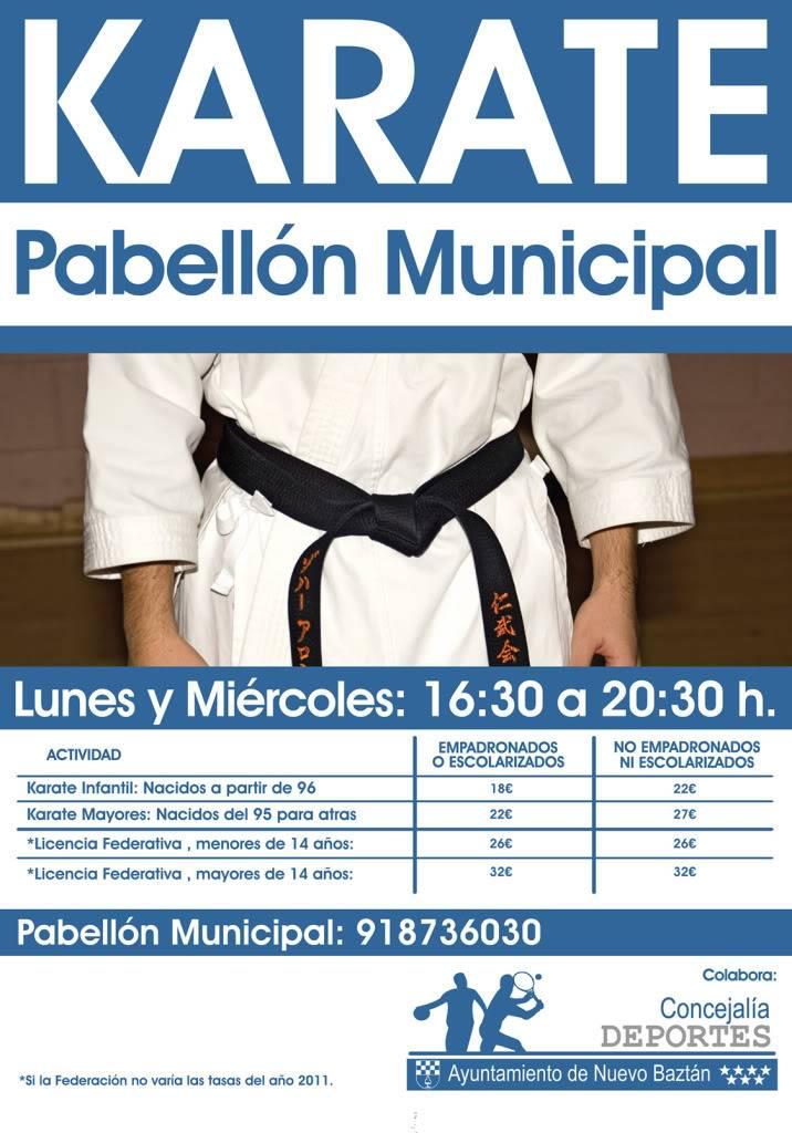 Nuevo Baztán: Más actividades 2011/2012 Clases_karate_2011