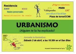 Perales de Tajuña: Charla y taller sobre urbanismo Cartel_Perales_Tajuna-452ba