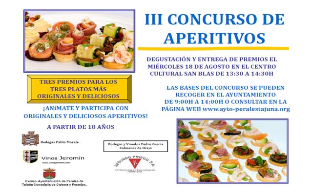 Perales de Tajuña: III Concurso de Aperitivos CONCURSODEAPERITIVOS