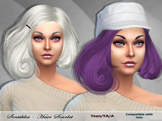 Прически для The Sims 4 Женские. 4935d782319a7df53660b5cc956492ec