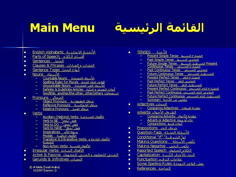 شرح مفصل لجميع قواعد اللغة الانجليزية 1-18