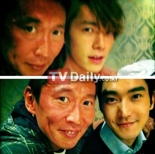 "[09-04-11] Choi Siwon- Donghae, selca with ""Extravagant Challenge"" producer. ""Proud Korean Visuals"" 1302318594_148405"