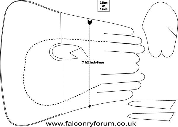 แบบแปลน ถุงมือฝึก  Glove1