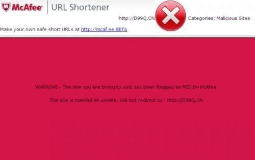 Mcaf.ee: Encurtador de URLs da McAfee Block1280x768