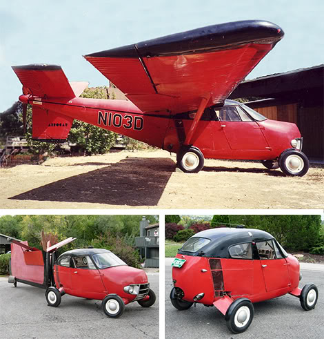 Automobiles you don't see everyday... - Page 2 Aerocar-N103D-Flying-Plane-Car-Sing