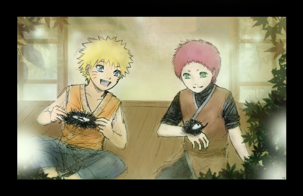 [Album] Naruto and Gaara Fox_Leaves___Gaara_and_Naruto_by_Li