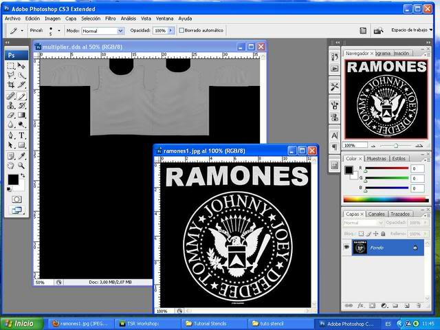 TUTORIAL: Stencils en ropa, añade logos e imagenes en tus camisetas (Workshop y Photoshop) [Fácil] 009