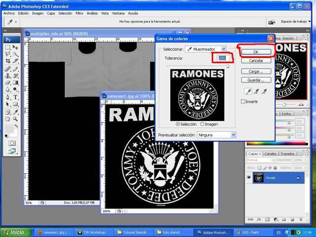 TUTORIAL: Stencils en ropa, añade logos e imagenes en tus camisetas (Workshop y Photoshop) [Fácil] 011