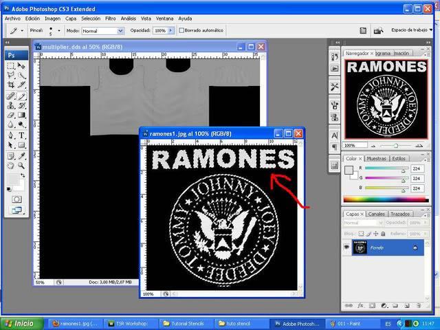 TUTORIAL: Stencils en ropa, añade logos e imagenes en tus camisetas (Workshop y Photoshop) [Fácil] 012