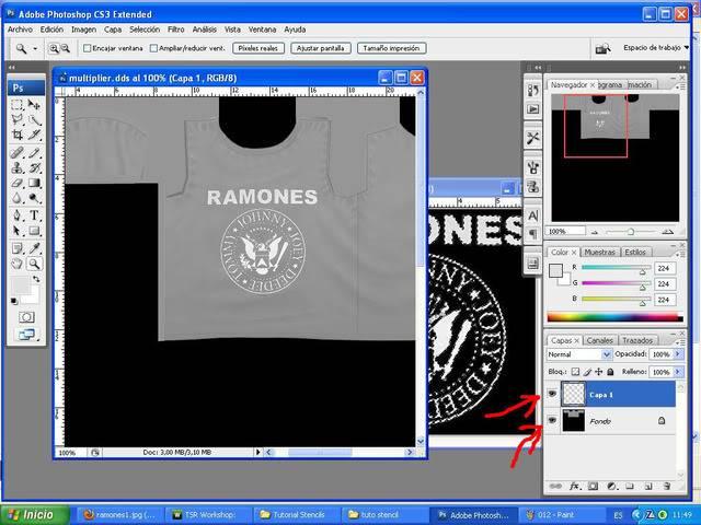 TUTORIAL: Stencils en ropa, añade logos e imagenes en tus camisetas (Workshop y Photoshop) [Fácil] 013-1