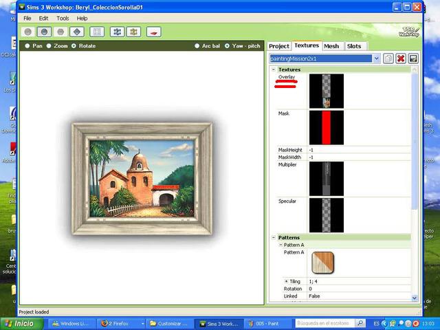 Crear cuadros con TSR-WORKSHOP - Modificación de la lámina 006