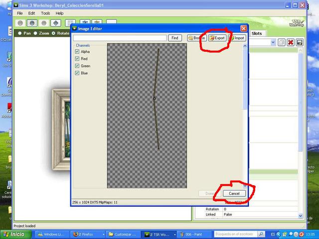 Crear cuadros con TSR-WORKSHOP - Modificación de la lámina 007