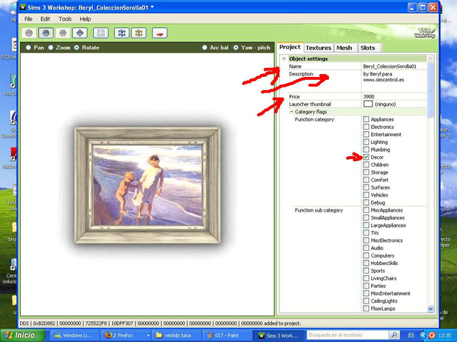 Crear cuadros con TSR-WORKSHOP - Modificación de la lámina 016