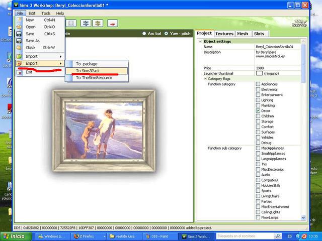 Crear cuadros con TSR-WORKSHOP - Modificación de la lámina 017