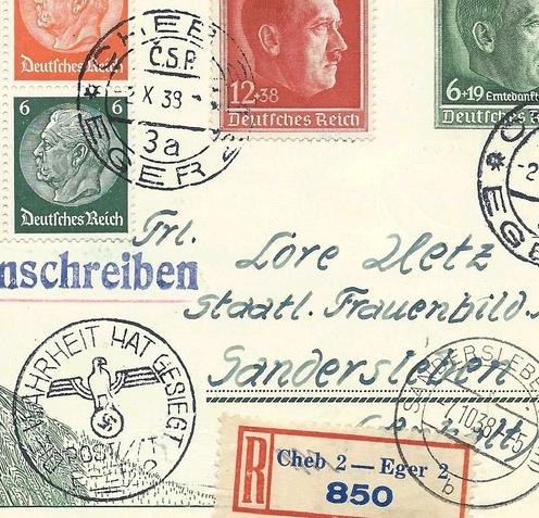 Asked: Drittes Reich  Sonderstempel Gy
