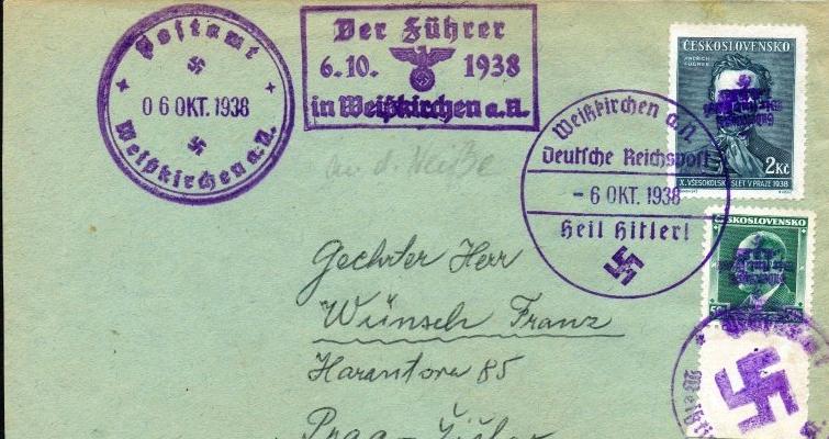 Asked: Drittes Reich SUDETENLAND Sonderstempel    Sd1