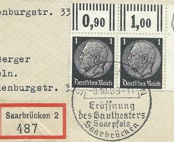 Asked: Drittes Reich  Sonderstempel Zsd