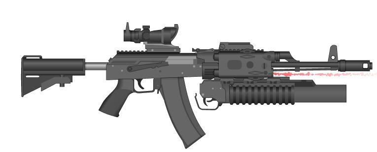 senjata apakah yang paling kalian sering pakai ?? AK-74SOPMOD