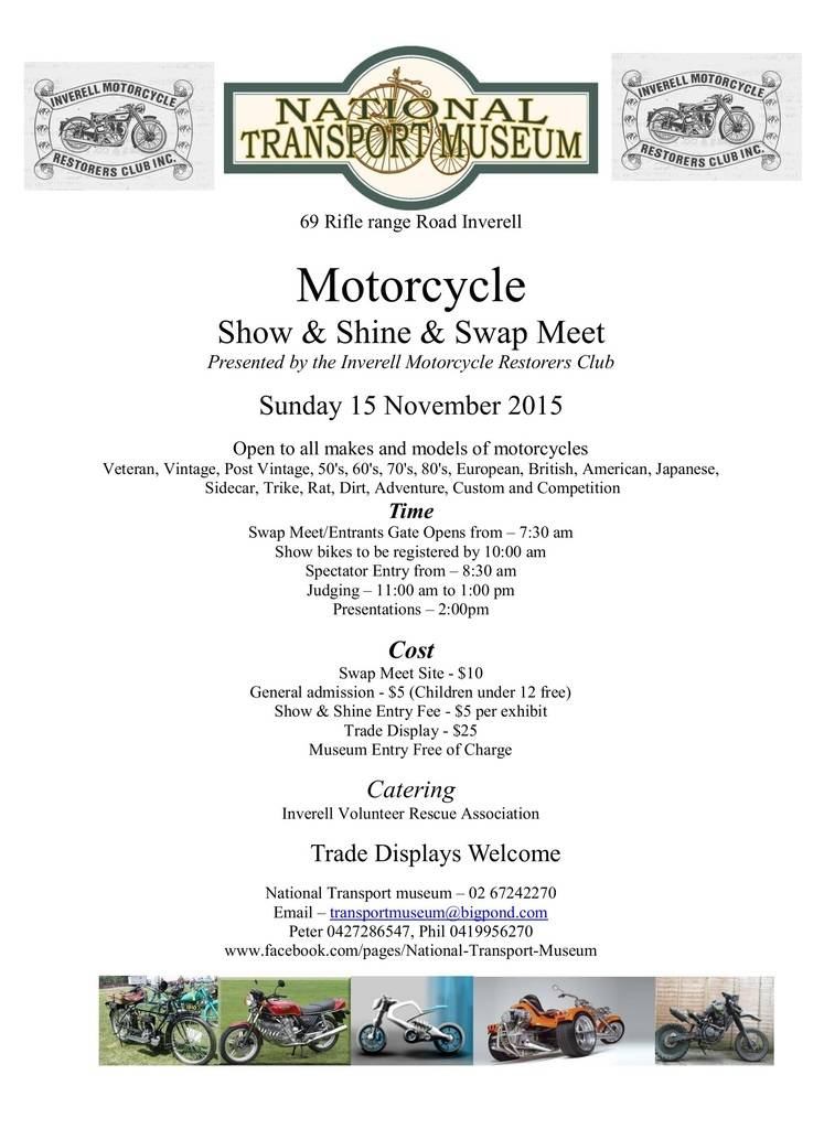 INVERELL BIKES ONLY SHOW AND SHINE 15th NOVEMBER SampS%20Flyer_zpsfufpibjb