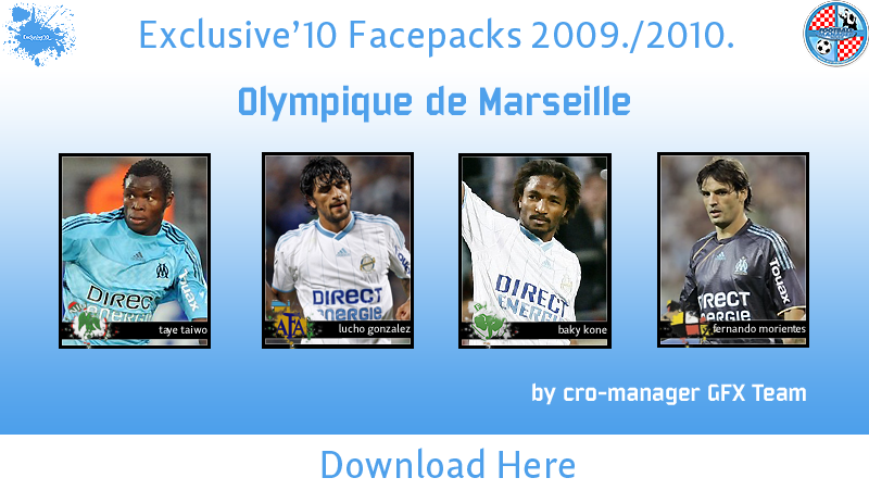 FM 2010 - Fransa Ligue 1 Face Pack OlympiquedeMarseille