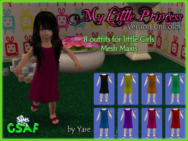 :: EveryDay Infant Girl :: ::The Little Princess :: 24 outfits by Yare ::  Dresslittle01