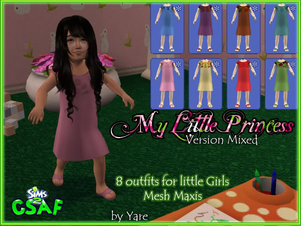 :: EveryDay Infant Girl :: ::The Little Princess :: 24 outfits by Yare ::  Dresslittle02