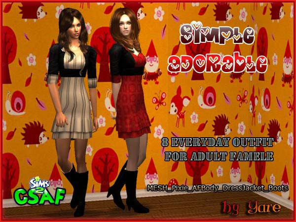 :: Adult Famele EveryDay :: Simple Adorable by Yare Simpleadorable01