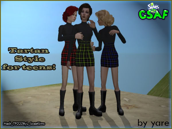 :: Teen Famele Everyday :: ::Tartan Style for Teens :: by Yare ::   Tartan01