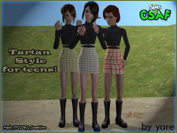 :: Teen Famele Everyday :: ::Tartan Style for Teens :: by Yare ::   Tartan02