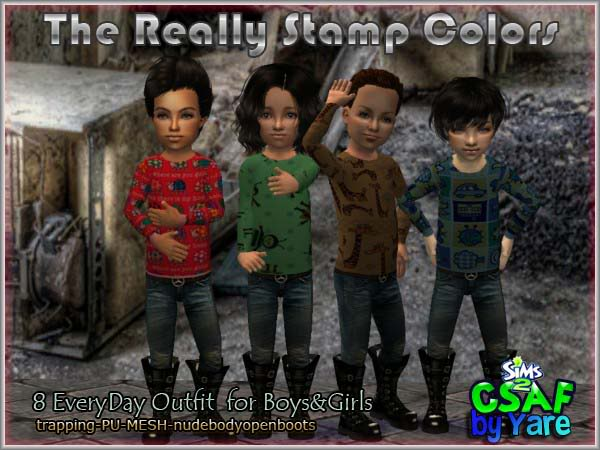:: EveryDay Little Boys :: The Really :: 16 Outfits Everyday by Yare Thereallystampscolors