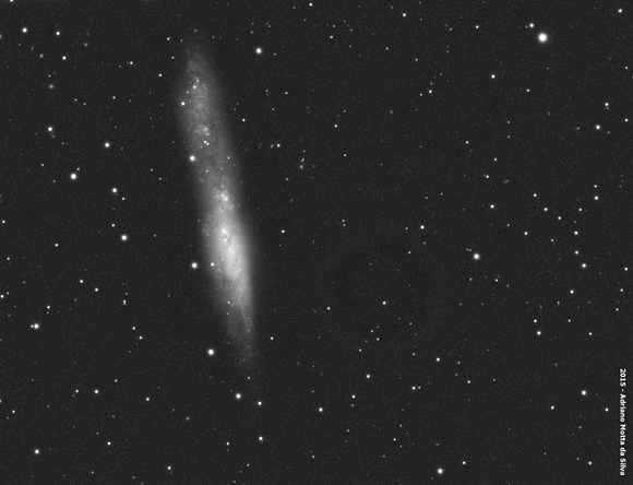 NGC 55 - Galáxia NGC55-580x444
