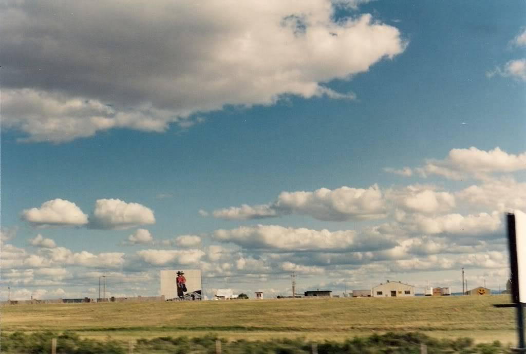 Old Drive In Near Laramie WyomingMural