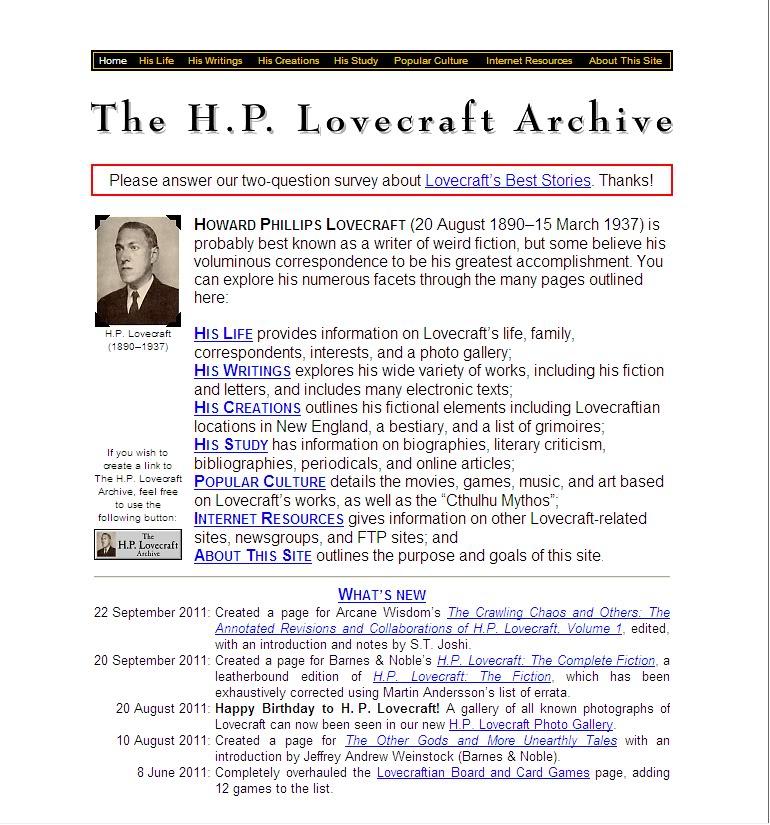 Directorio De Paginas Lovecraftianas Captura8-1