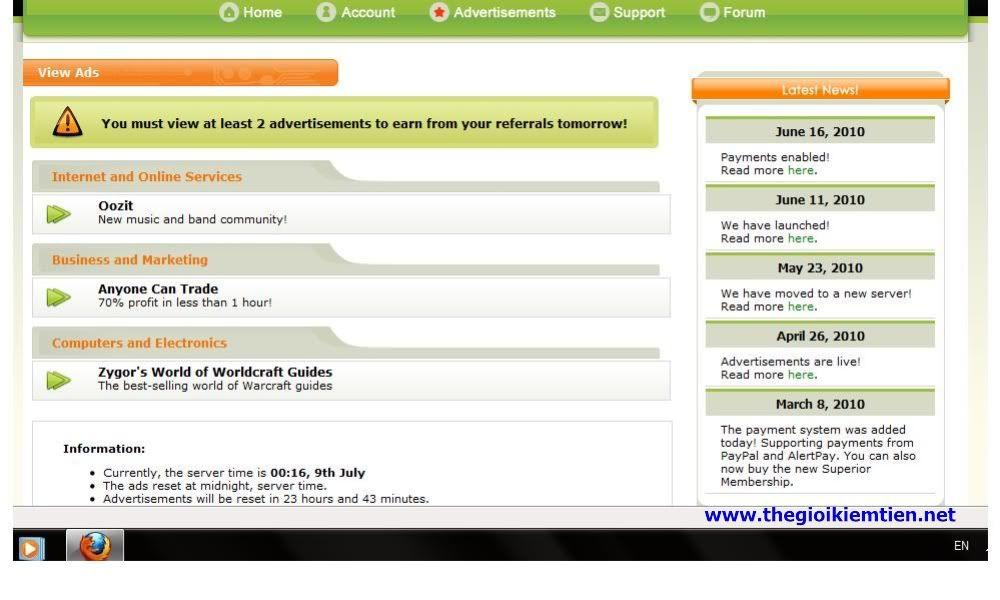 Kiếm tiền Với Cashium.Net - chính thức hoạt động trở lại sau tin Scam 1-9