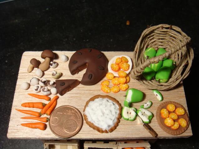 Tavolo, Cassette della frutta e Cibi Mini028-1