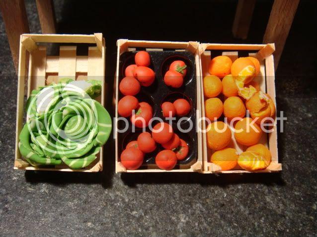 Tavolo, Cassette della frutta e Cibi Mini029-1