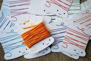 Organizzare fili, gomitoli, nastri e stoffe Printablethreadbobbins
