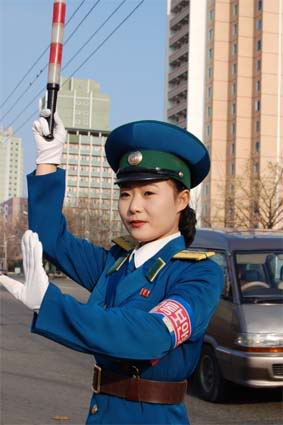 Meet The Traffic Girls - from a North Korean online magazine HFa26-1-0