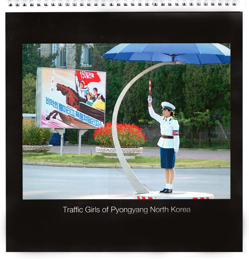 NEW!  PYONGYANG TRAFFIC GIRL WALL CALENDARS FOR SALE PTG2011calendarep500x520