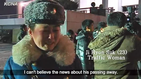 Pyongyang Traffic Girls Crying And Mourning Dear Leader Kim Jong-Il  Kjif15pae600x