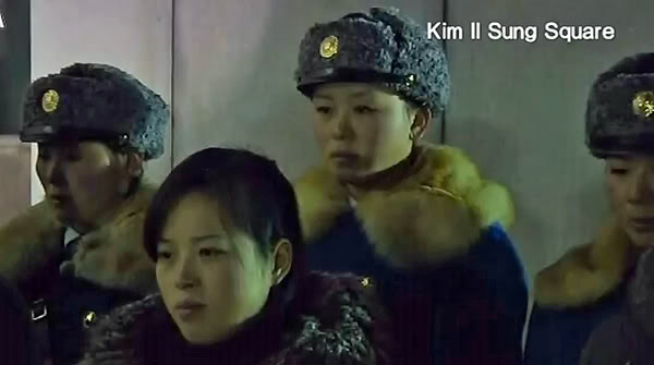 Pyongyang Traffic Girls Crying And Mourning Dear Leader Kim Jong-Il  Kjif20ae600x