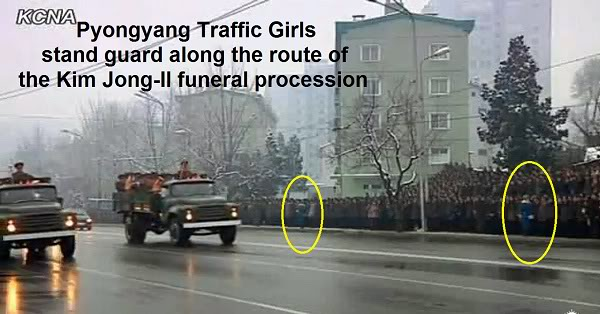Pyongyang Traffic Girls Crying And Mourning Dear Leader Kim Jong-Il  Kjif24p3