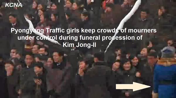 Pyongyang Traffic Girls Crying And Mourning Dear Leader Kim Jong-Il  Kjif25aep2