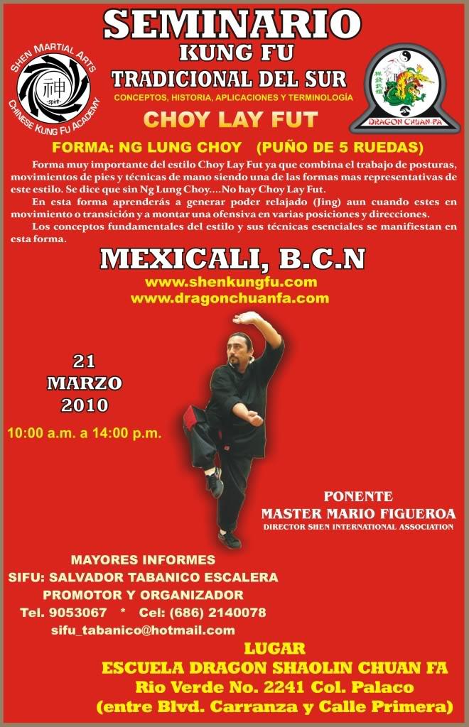 Seminario - Kung Fu Sureño Tradicional POSTERSEMINARIOENMEXICALI