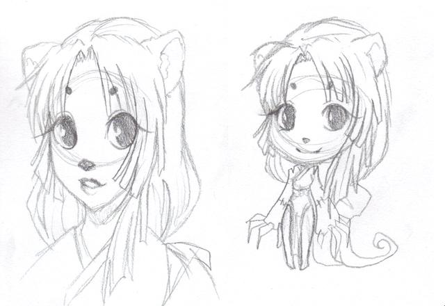 Art Dump / Work in Progress Pandawoman