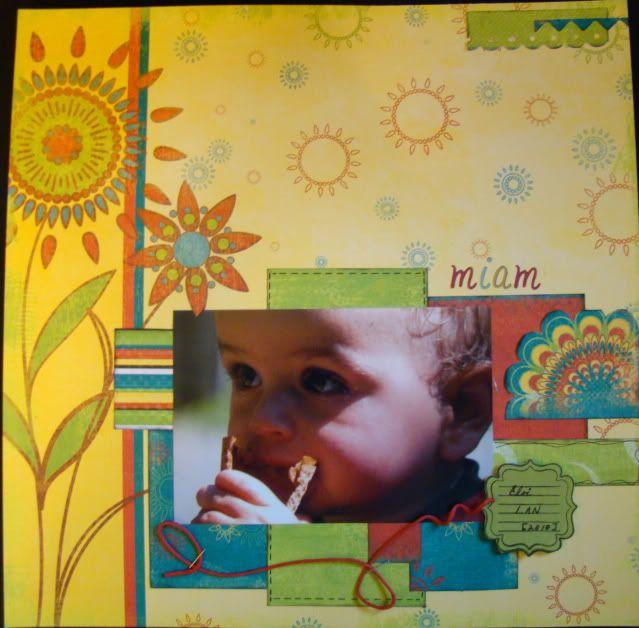 Aout 2010: retaille de papier a motifs Miam