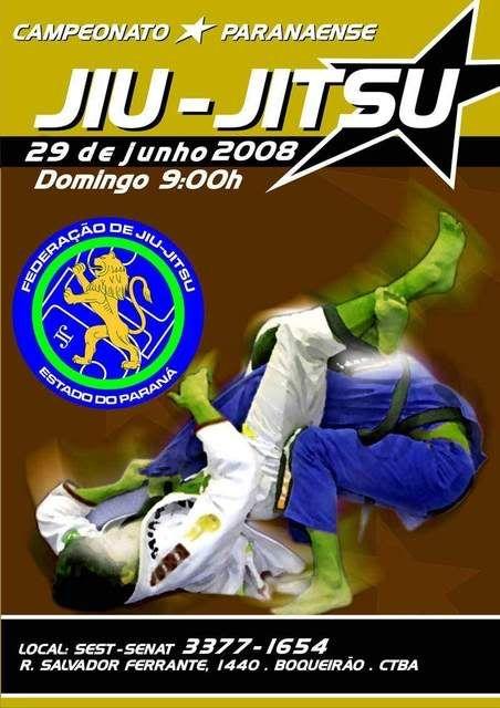 Campenato Paranaense de Jiu Jitsu - 29/06 Cartazjj