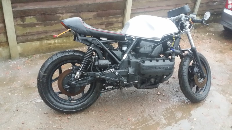 """""""Patina Cafe Racer"""" 1989 UK Spec' K100RS Special former Police bike (believed) Various electric issues to resolve. 20151114_153458_zpsqtppnnqf"""